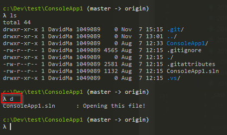 Open Visual Studio Solution from Command Line | Dave
